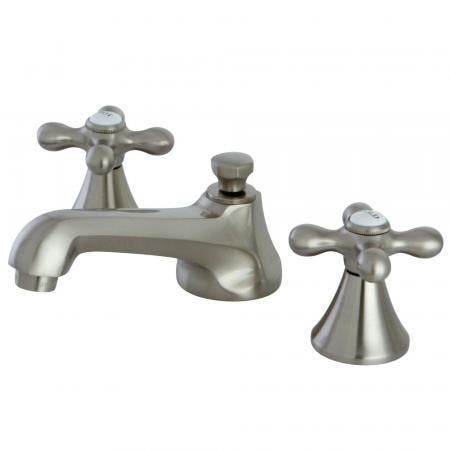 Kingston Brass KB672 TWIN handleS TUB Shower Faucet PRESSURE BALANCED with VOLUME CONTROL, Polished Brass