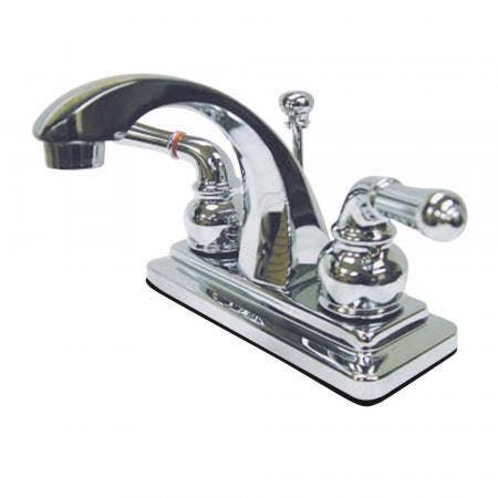 Kingston Brass KB8632FL ROYALE TUB & SHOWER FAUCET with FRENCH SCROLL HANDLE, Polished Brass