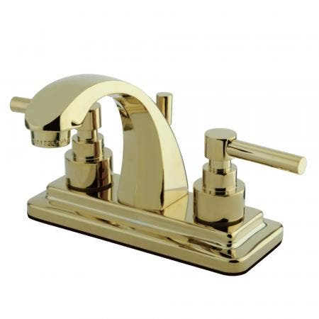 Kingston Brass KB8634FL Kingston Brass KB8634FL Royale Tub and Shower Faucet with Handle, Chrome/Polished Brass