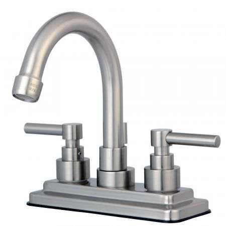 Kingston Brass KS5368BX Kingston Brass KS5368BX Roman Tub Filler with Handle, Satin Nickel