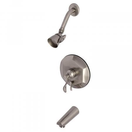 Kingston Brass KB46380DFL Tub and Shower Faucet, Brushed Nickel
