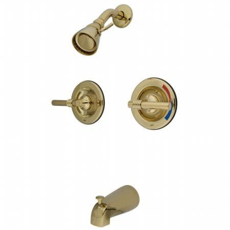 Kingston Brass KB7642KL Kingston Brass KB7642KL 4-Inch Lavatory Faucet with Retail Pop-Up, Polished Brass