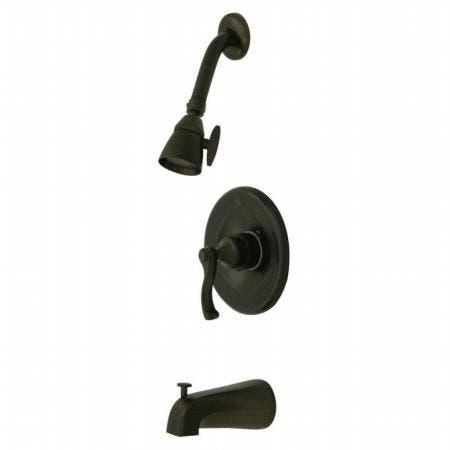 """Kingston Brass KS1432AX DECK MOUNT with 4"""" DECK PLATE bathroom Faucetwith CRS handle & Brass POP"""