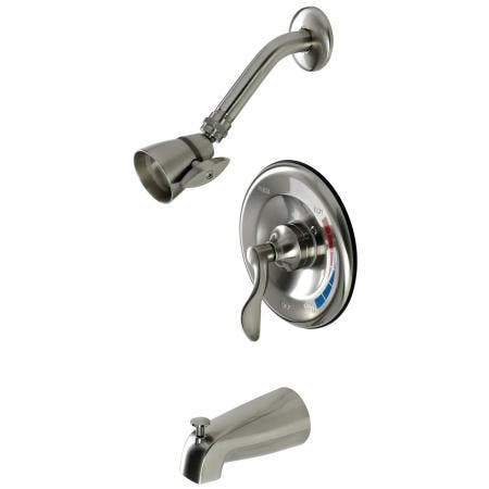 Kingston Brass KB8638DFL Tub and Shower Faucet, Brushed Nickel