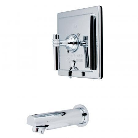 """Kingston Brass KS1435PX DECK MOUNT with 4"""" DECK PLATE bathroom Faucet with PX handle & Brass POP"""