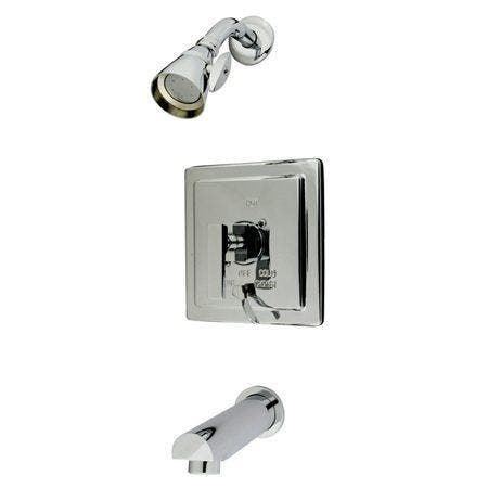 Kingston Brass KB86510QLL Tub and Shower Faucet, Polished Chrome