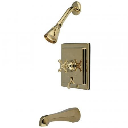 """Kingston Brass KS1438PX DECK MOUNT with 4"""" DECK PLATE bathroom Faucet with PX handle & Brass POP"""