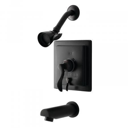 Kingston Brass KB86550DFL Tub and Shower Faucet, Oil Rubbed Bronze
