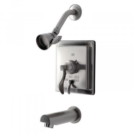 Kingston Brass KB86580DFL Tub and Shower Faucet, Brushed Nickel