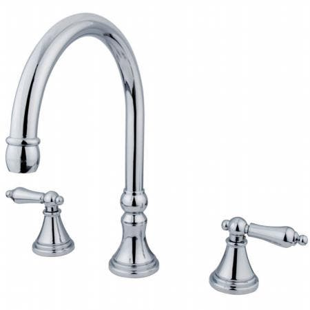 Kingston Brass KS5561GL Kingston Brass KS5561GL Widespread Lavatory Faucet with Handle, Chrome