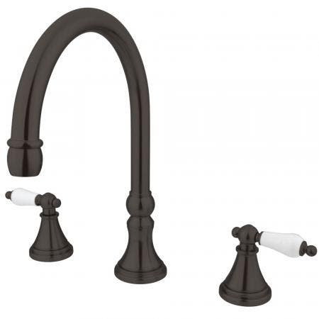 """Kingston Brass KS5562PL Two Handle 8"""" to 16"""" Widespread bathroom Faucet with Brass Pop"""