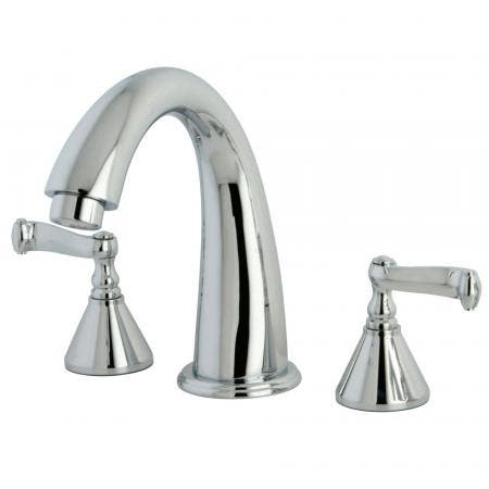 Kingston Brass KS5568GL Kingston Brass KS5568GL Widespread Lavatory Faucet with Handle, Satin Nickel