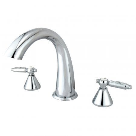 Kingston Brass KS5568NL Kingston Brass KS5568NL Widespread Lavatory Faucet with Handle, Satin Nickel