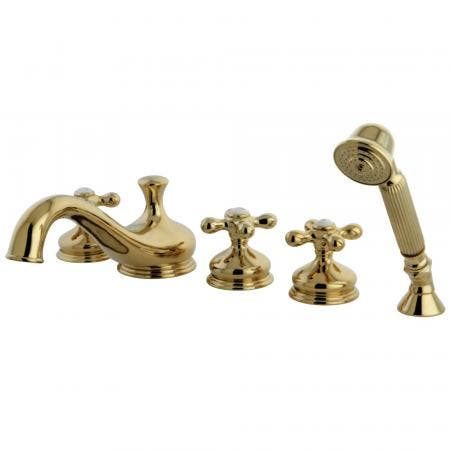 Kingston Brass KB235KL TUB & SHOWER Faucet with 3 KL HANDLES, Oil Rubbed Bronze