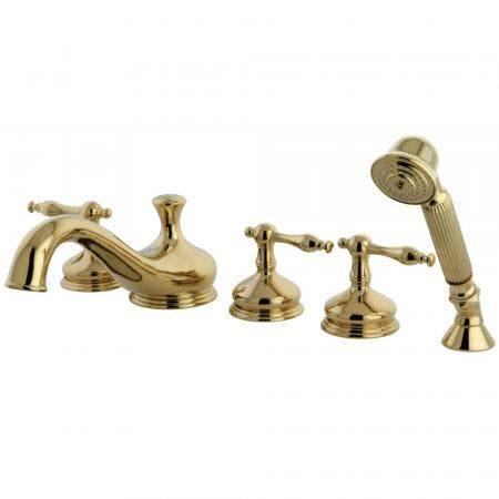 Kingston Brass KB235LL Kingston Brass KB235LL Tub and Shower Faucet with 3 Lever Handle, Oil Rubbed Bronze