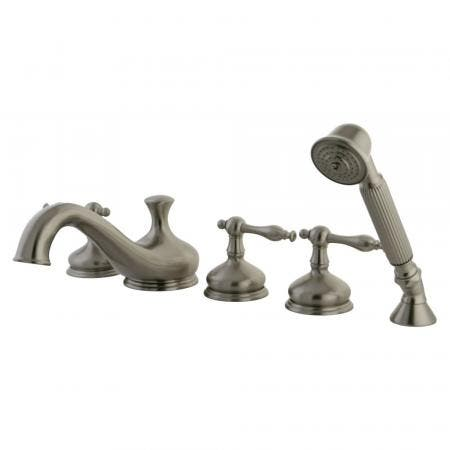 Kingston Brass KB241PL Twin Handle Tub & Shower Faucet with Decor and PL Handle