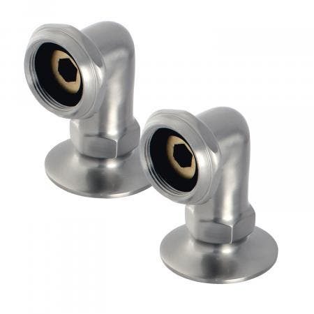 Aqua Vintage AE2RS8 Riser for Deck Mount Clawfoot Tub Faucet, Brushed Nickel