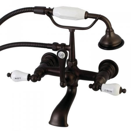 Aqua Vintage AE555T5 Clawfoot Tub Faucet with Hand Shower, Oil Rubbed Bronze