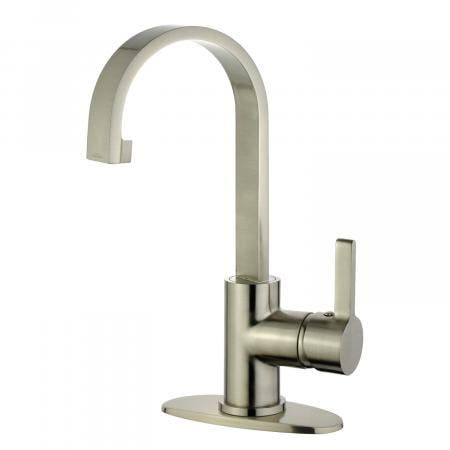Fauceture LS8218CTL Continental 4-Inch Centerset Two Handle Lavatory Faucet, Brushed Nickel