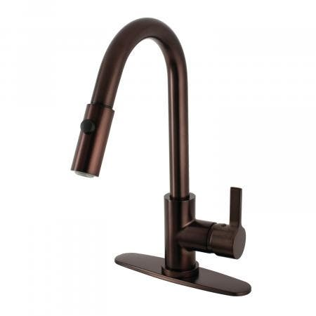 Gourmetier LS8785CTL Continental Kitchen Faucet with Pull-Down Sprayer, Oil Rubbed Bronze