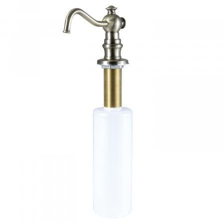 Kingston Brass SD7603 Curved Nozzle Metal Soap Dispenser, Vintage Brass