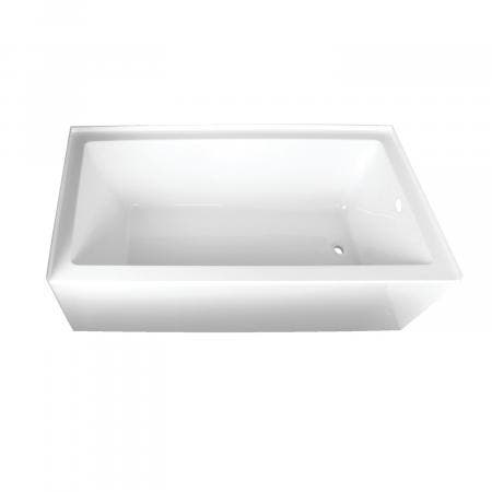 Kingston Brass Aqua Eden 66-Inch Acrylic Alcove Tub with Right Hand Drain Hole, White