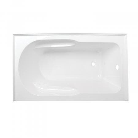 Kingston Brass Aqua Eden 60-Inch Acrylic Alcove Tub with Anti Skid and Right Hand Drain Hole, White