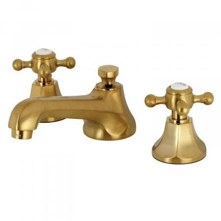 Kingston Brass KS4467BX 8-Inch Widespread Lavatory Faucet, Brushed Nickel/Chrome