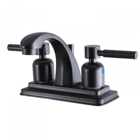 Kingston Brass KB4645DL 4-Inch Centerset Lavatory Faucet, Oil Rubbed Bronze