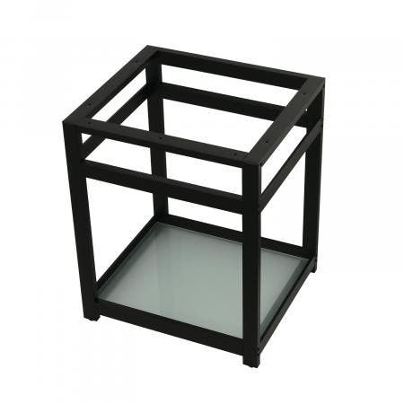 Fauceture VSP2522B0 25-Inch x 22-Inch Console Sink Base with Glass Shelf, Matte Black