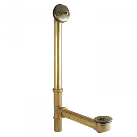 "Kingston Brass DTL1163 16"" Trip Lever Waste and Overflow Drain, Vintage Brass"