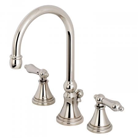 Kingston Brass KS2986AL 8-Inch Widespread Lavatory Faucet, Polished Nickel