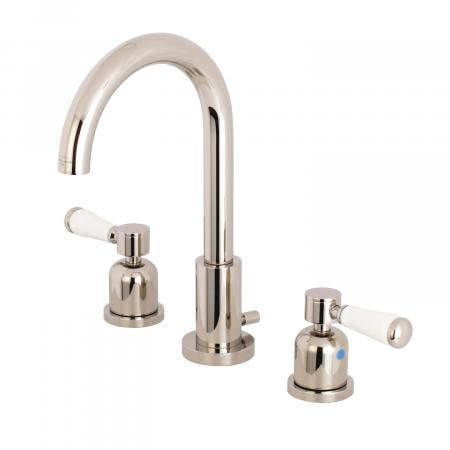Fauceture FSC8929DPL 8-Inch Widespread Lavatory Faucet with Brass Pop-Up, Polished Nickel