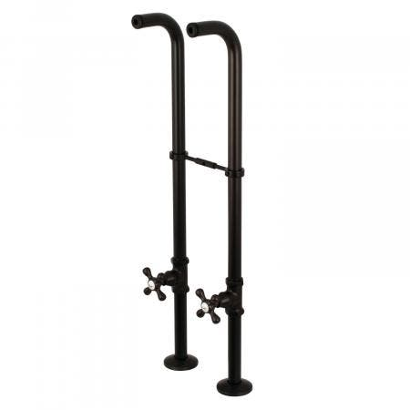 Kingston Brass CC266S5AX Freestanding Supply Line with Stop Valve and Handle, Oil Rubbed Bronze