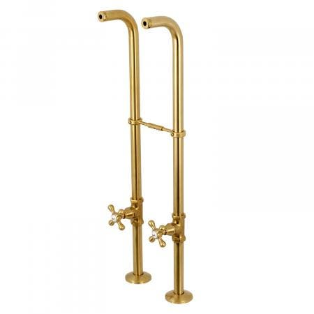 Kingston Brass CC266S7AX Freestanding Supply Line with Stop Valve and Handle, Satin Brass