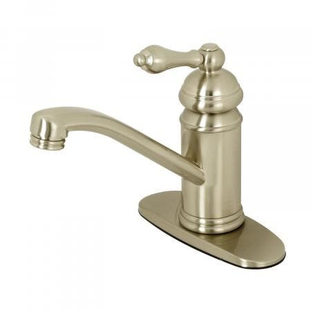 Kingston Brass KS3408AL Single Handle Lavatory Faucet with Push-Up Pop-Up, Brushed Nickel