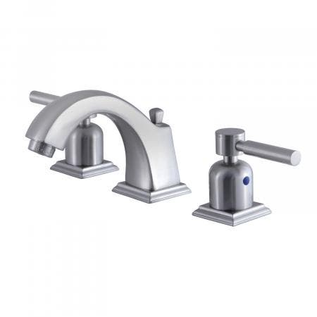 Fauceture FSC4688NDL 8-Inch Widespread Lavatory Faucet with Retail Pop-Up, Brushed Nickel