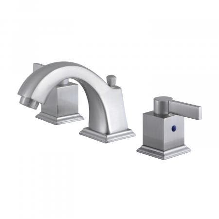 Fauceture FSC4688NQL 8-Inch Widespread Lavatory Faucet with Retail Pop-Up, Brushed Nickel