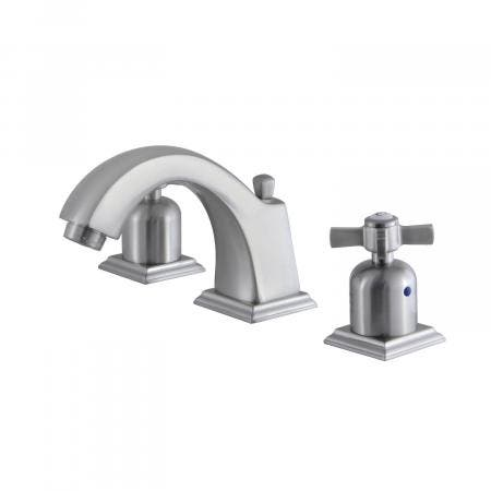 Fauceture FSC4688ZX 8-Inch Widespread Lavatory Faucet with Retail Pop-Up, Brushed Nickel