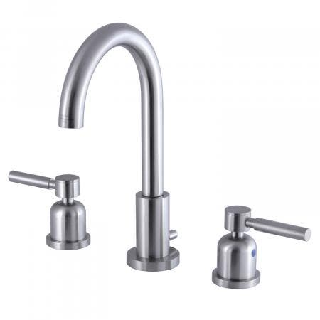 Fauceture FSC8928DL 8-Inch Widespread Lavatory Faucet with Brass Pop-Up, Brushed Nickel