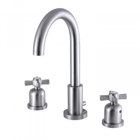 Fauceture FSC8928ZX 8-Inch Widespread Lavatory Faucet with Brass Pop-Up, Brushed Nickel