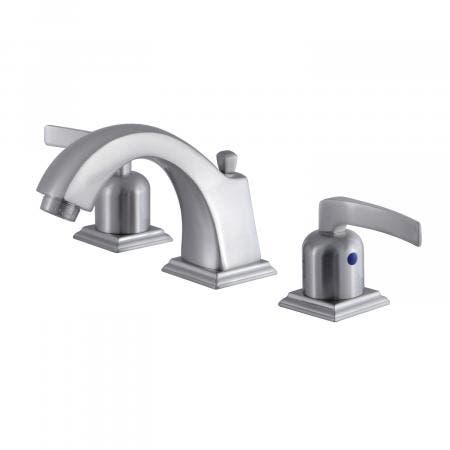 Fauceture FSC4688EFL 8-Inch Widespread Lavatory Faucet with Retail Pop-Up, Brushed Nickel
