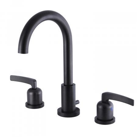 Fauceture FSC8925EFL 8-Inch Widespread Lavatory Faucet with Brass Pop-Up, Oil Rubbed Bronze