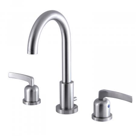 Fauceture FSC8928EFL 8-Inch Widespread Lavatory Faucet with Brass Pop-Up, Brushed Nickel